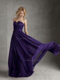 Online Romantica Regency Draped Floor-length Chiffon Bridesmaid Dresses