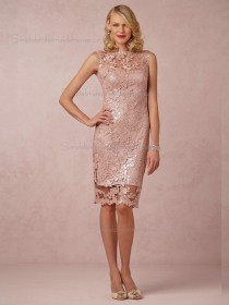 Fitted Applique Champagne Short-length Bridesmaid Dresses