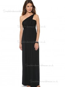 Vintage Girls Black Floor-length Chiffon Bridesmaid Dresses
