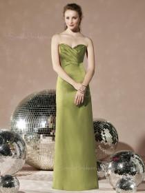 Empire Satin-Chiffon Zipper Floor-length Sweetheart Bridesmaid Dress