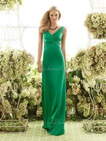 Empire Bow/Ruffles/Sash Sheath Elastic-Satin Floor-length Bridesmaid Dress