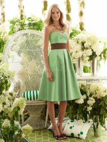 A-line Green Sweetheart Sleeveless Zipper Bridesmaid Dress