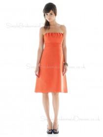 Knee-length Ruffles Empire Chiffon Sleeveless Bridesmaid Dress