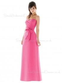 Pink Sleeveless Sweetheart Chiffon Zipper Bridesmaid Dress