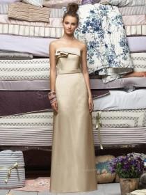Ruffles Zipper Floor-length Champagne Sleeveless Bridesmaid Dress