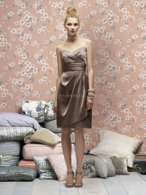 A-line Zipper Sweetheart Draped/Ruffles Elastic-Satin Bridesmaid Dress