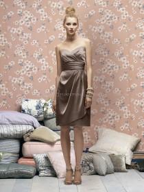 A-line Zipper Sweetheart Draped/Ruffles Elastic-Satin Bridesmaid Dress