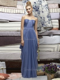 A-line Lavender Draped/Ruffles Floor-length Empire Bridesmaid Dress