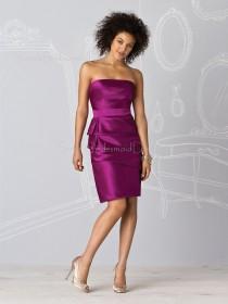 Natural Sheath Zipper Ruffles/Tiered Satin Bridesmaid Dress