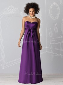 Empire Sleeveless Chiffon Floor-length Sweetheart Bridesmaid Dress