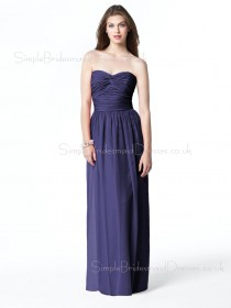 Sleeveless Chiffon A-line Draped/Ruffles Empire Bridesmaid Dress