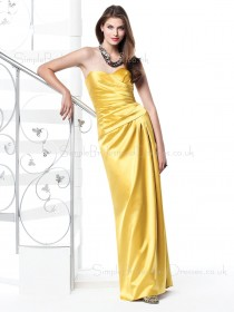 Sleeveless Draped/Ruffles Floor-length Natural Zipper Bridesmaid Dress