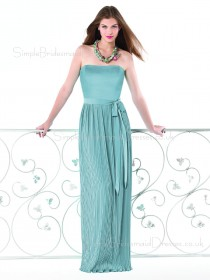 Floor-length Strapless Sleeveless Chiffon Zipper Bridesmaid Dress