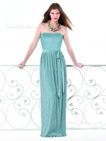 Floor-length Strapless Sleeveless Chiffon Zipper Bridesmaid Dress