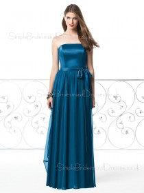 Sleeveless Chiffon A-line Zipper Natural Bridesmaid Dress