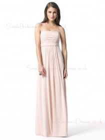 Draped/Ruffles Chiffon Floor-length Empire Backless Bridesmaid Dress