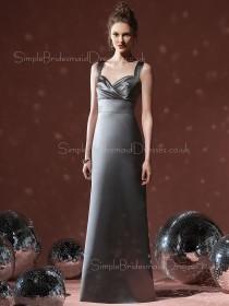 A-line Sweetheart Floor-length Ruffles Sleeveless Bridesmaid Dress