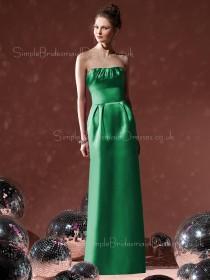 Floor-length Elastic-Satin Ruffles Sheath Zipper Bridesmaid Dress