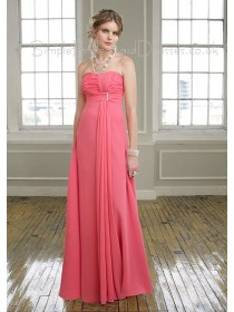 Chiffon Zipper Draped/Ruffles Empire A-line Bridesmaid Dress