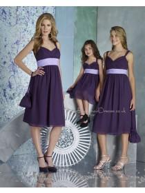 Knee-length Sweetheart Chiffon Empire Sleeveless Bridesmaid Dress