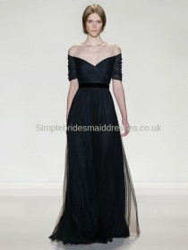 Best sale beautiful dark navy bridesmaid dress UK