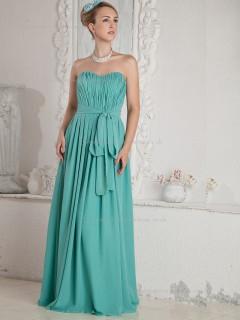 Jade Sweetheart A-line Floor-length Empire Chiffon Bridesmaid Dress