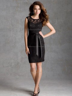 Hot Style Multicolor Black Lace Short-length Belt Bridesmaid Dress