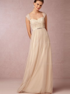 For Girls Champagne Sweetheart Bridesmaid Dresses
