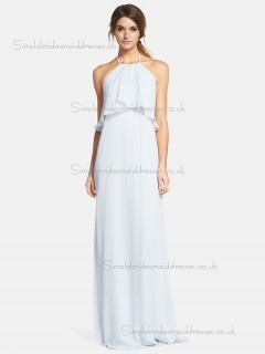 Online Chiffon Sweep White Bridesmaid Dresses