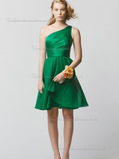 Cheap Stunning Green Short-length Chiffon Bridesmaid Dresses