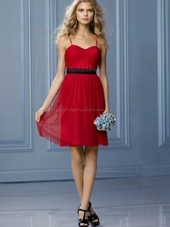 Fitted Celebrity Ruby Draped Short-length Chiffon Bridesmaid Dresses