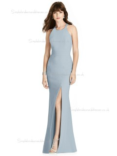 Beautiful Amazing Satin floor-length Split mist Mermaid Bridesmaid Dress