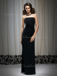 Zipper Floor-length Strapless Draped/Ruffles Chiffon Bridesmaid Dress