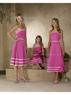 Sleeveless Fuchsia Draped Satin A-line Bridesmaid Dress