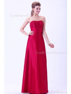 Ruffles/Sash Natural Sweetheart A-line Zipper Burgundy Floor-length Sleeveless Taffeta Bridesmaid Dress