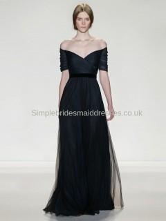 Best sale beautiful dark navy bridesmaid dress UK