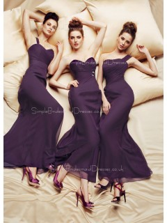 A-line Empire Ankle-length Sleeveless Sweetheart Bridesmaid Dress