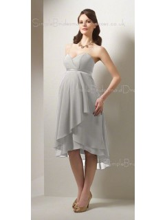 A-line Chiffon V-neck Asymmetrical Champagne Sleeveless Zipper Drop Maternity Bridesmaid Dresses